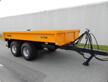 Tinaz 10 tons dumpervogn med hydr bagklap  40 cm sider
