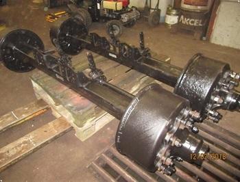 BWP 9 tons hjul aksler