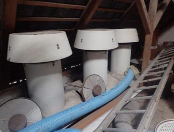Ventilationsskorsten mblser 2 stk