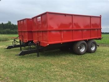 BS 18 tons kornvogn  tipvogn med kraftig entreprenr bund